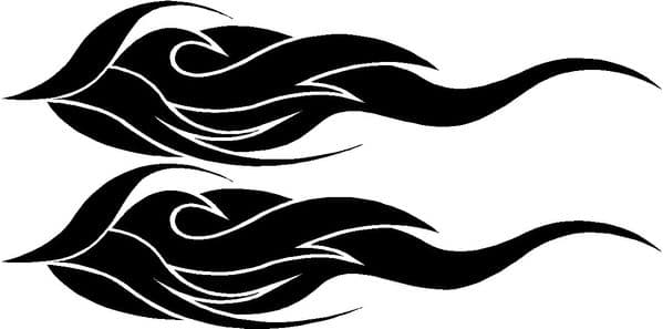 Vehicle Graphic Decal FLAME Design 3