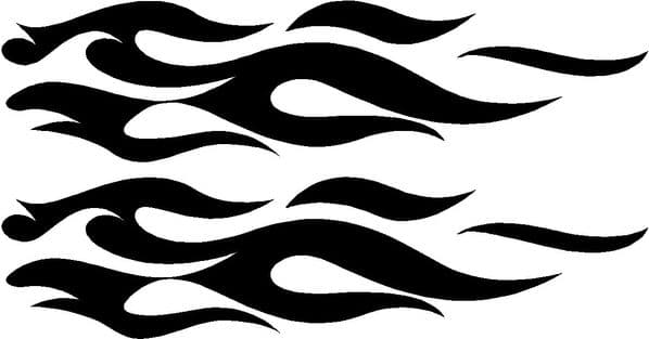 Vehicle Graphic Decal FLAME Design 5