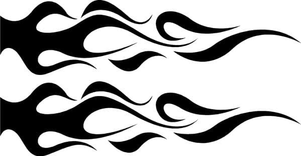 Vehicle Graphic Decal FLAME Design 6