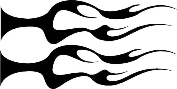 Vehicle Graphic Decal FLAME Design 7