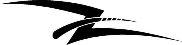 Vehicle Graphic Decal Swishes Design 1