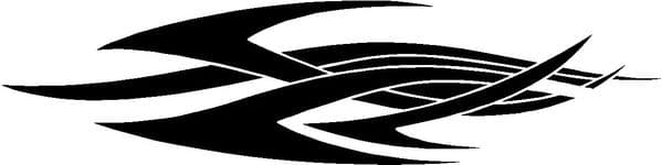 Vehicle Graphic Decal Swishes Design 27