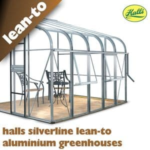 Halls Silverline Lean-To Greenhouses