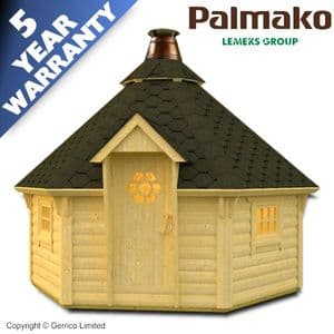 PALMAKO® EVA 6-SIDED BBQ Hut 8.7m²  |  A1 Sheds