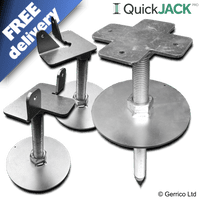 QuickJACK-PRO Adjustable Shed Base (for soil or grass)