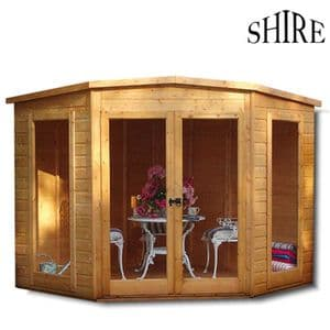 Shire Barclay 7x7 Corner Summerhouse