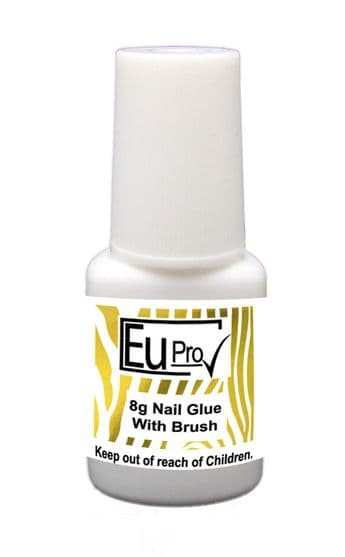 Eu Pro Clear Brush On Nail Glue Adhesive For Fake Nails Acrylic Tips 7g Bottle