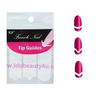 NAIL TIPS FRENCH MANICURE TIP  STICKER TEMPLATE GUIDES NAILS GUIDE MIXED SHAPE