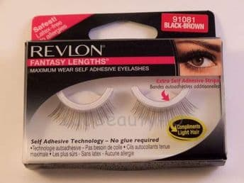 REVLON FALSE EYE LASH LASHES EYELASHES EYELASH 91081 BLACK BROWN COLOUR