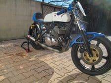 Suzuki TR500 MILD STEEL SIDE/SIDE Bolt-On Silencers RACE EXHAUSTS