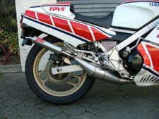 Yamaha RZ500 MILD STEEL SIDE/SIDE STYLE EXHAUSTS