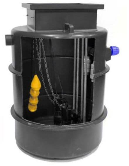 Sewage Pumping Station  JTDual 3 inch Twin Guide Rails up to 11m lift