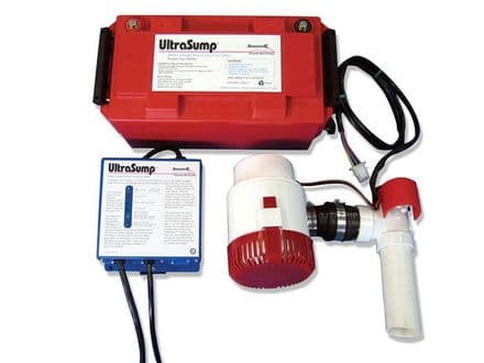 UltraSump Battery back up System an emergency backup system, with a battery power source,