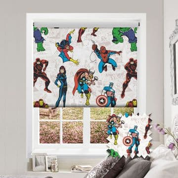 Avengers Roller Blind Patterned Marvel Blackout Fabric