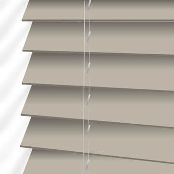 Beige Sunwood Faux Wood Venetian Blinds in Gravity