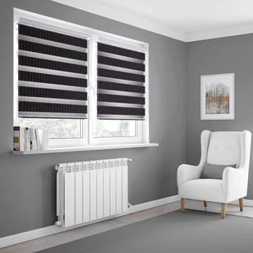 Black Day and Night Blinds Made To Measure in Black
