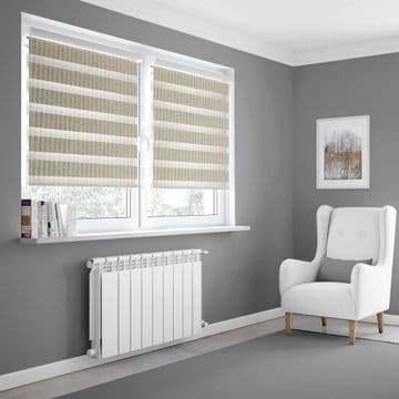 Cream Day and Night Blinds Made To Measure