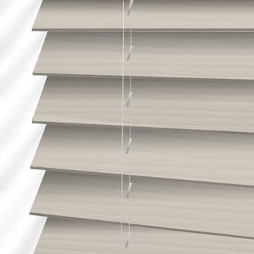 Cream Embossed Sunwood Faux Wood Venetian Blinds in Mirage Fine Grain