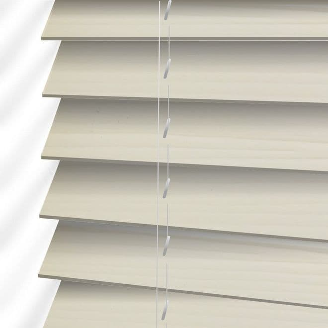 The Shire Faux Wood Venetian Blinds in Soft Linen - Just Blinds