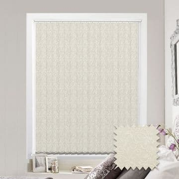 Cream Vertical Blinds - Made to Measure vertical blind in Willow Cream