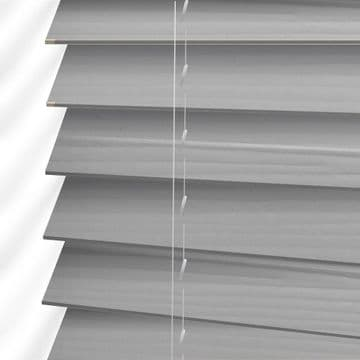 Dark Grey Faux Wood Venetian Blinds in  Embossed Nimbus Grey