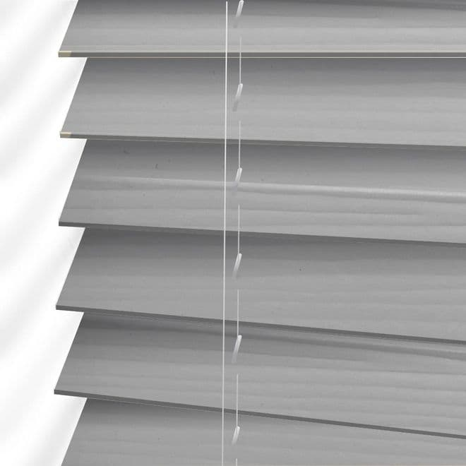 The Shire Faux Wood Venetian Blinds in Nimbus Grey - Just Blinds