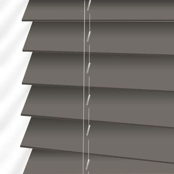 Dark Grey Sunwood Faux Wood Venetian Blinds in Orion