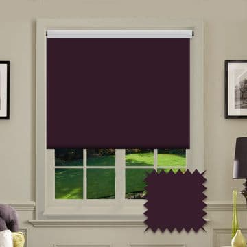 Dark Purple Plain Roller Blind in Carnival Purple FR / Antibacterial fabric