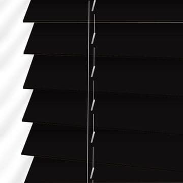 Forestwood 50mm Real Wood Venetian blinds Made to Measure in Charcoal Black
