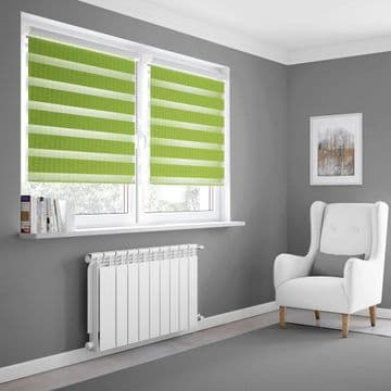 Green Day and Night Blinds Made To Measure in Forest