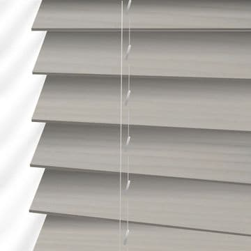 Grey Embossed Faux Wood Venetian Blinds in  Cool Grey