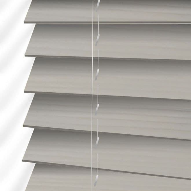 The Shire Faux Wood Venetian Blinds in Cool Grey - Just Blinds
