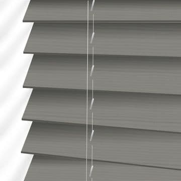 Grey Embossed Sunwood Faux Wood Venetian Blinds in Athena Fine Grain