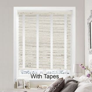 Grey Faux Wood Venetian Blinds With Tapes in Fluid Stone