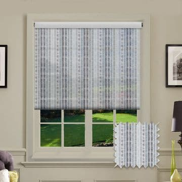 Grey Line Patterned Roller Blind in Perilla Anthracite