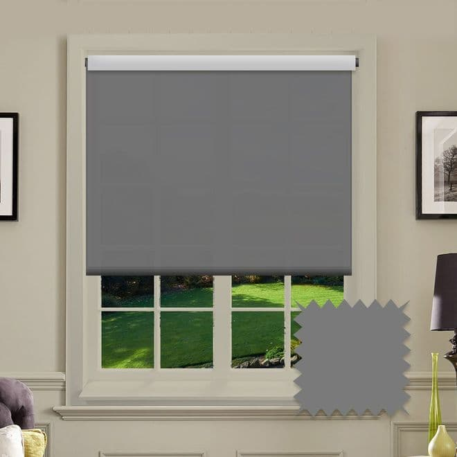 Grey Roller Blind - Astral Rock Plain - Just Blinds