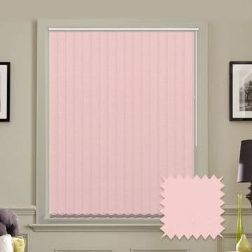 Light Pink Made to measure vertical blinds in Carnival Blush plain FR / Antibacterial fabric