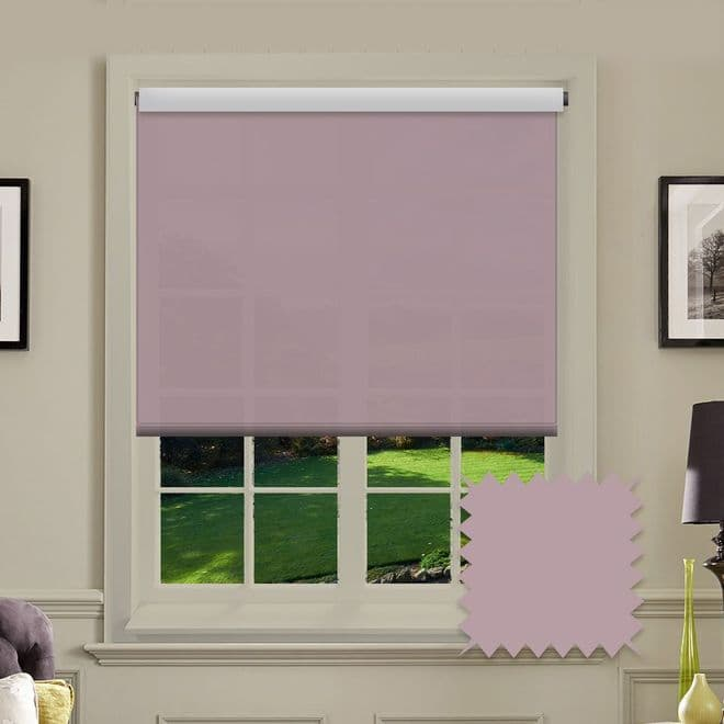White Roller Blind - Astral Bossa Light Pink Plain - Just Blinds
