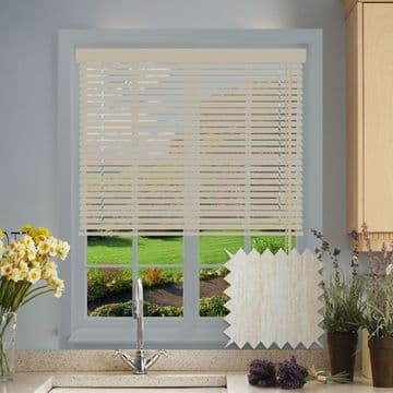 Limed White Wood Look Aluminium venetian blind