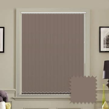 """Made to Measure Blackout 5"""" Unishade Chocolate Vertical Blind"""