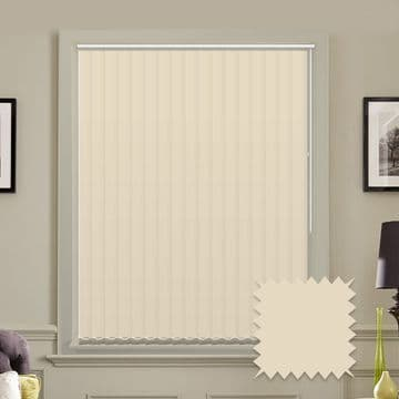 """Made to Measure  Blackout 5"""" Unishade Cream Vertical Blind"""