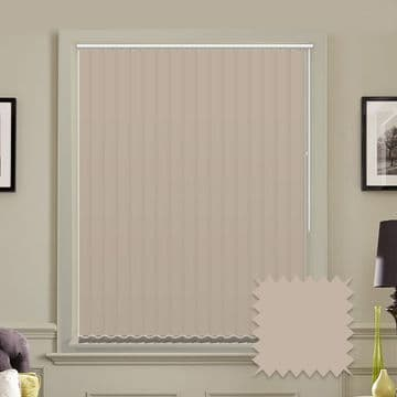 """Made to Measure  Blackout 5"""" Unishade Taupe Vertical Blind"""