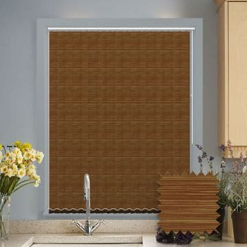 Made to Measure Morocco Wheat Brown Vertical Blind