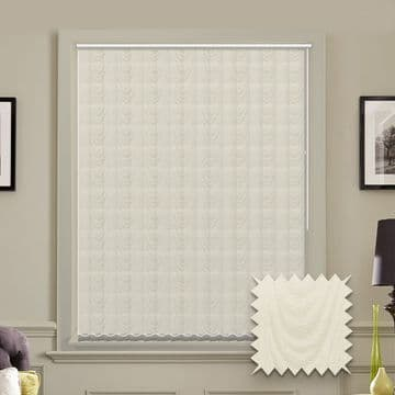 Made to measure vertical blind in Amsterdam Cream Fabric