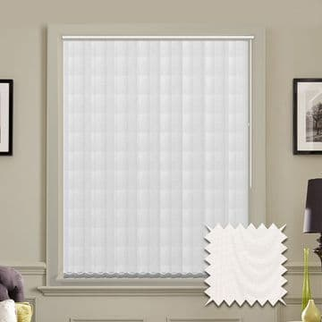 Made to measure vertical blind in Amsterdam White Fabric