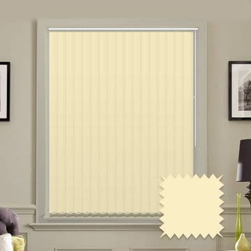 Made to Measure Vertical Blinds in PVC Blackout fabric in Beige