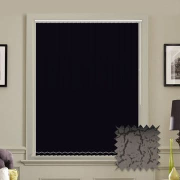 Made to Measure Vertical Blinds in PVC Blackout fabric Marble Black