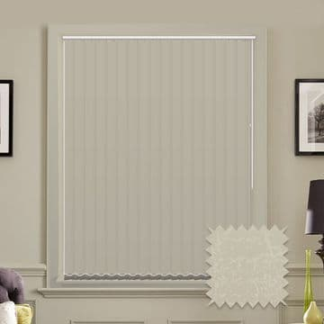 Made to Measure Vertical Blinds in PVC Blackout fabric Marble Cream