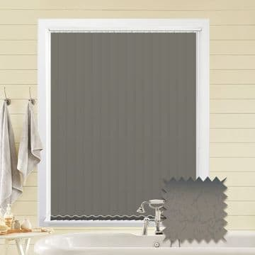 Made to Measure Vertical Blinds in PVC Blackout fabric Marble Silver
