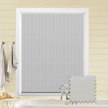Made to Measure Vertical Blinds in PVC Blackout fabric Marble White